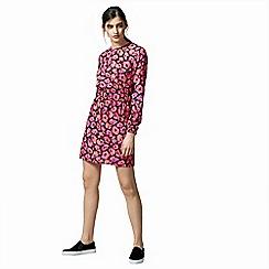 Warehouse - Poppy print waisted dress