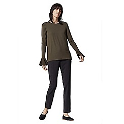 Warehouse - Woven Flute Sleeve Top