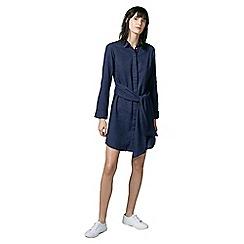 Warehouse - Belted cotton shirt dress