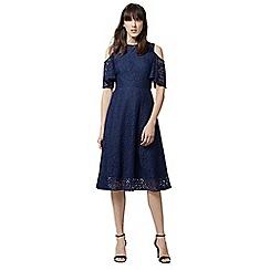 Warehouse - Lace cold shoulder dress