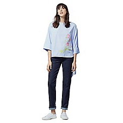 Warehouse - Rose embroidered tie side top