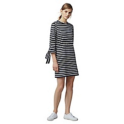 Warehouse - Cotton stripe cutout dress