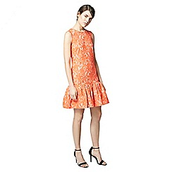 Warehouse - Bonded lace peplum dress
