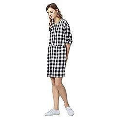 Warehouse - Gingham popper dress
