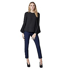 Warehouse - Button back fluted sleeve top