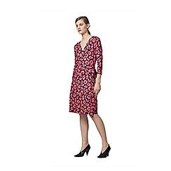 Warehouse - Poppy printed wrap dress