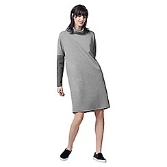 Warehouse - Rib Detail Roll Neck Dress