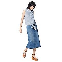 Warehouse - Linen mix stripe shirt