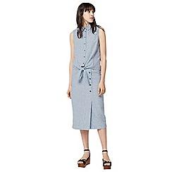 Warehouse - Linen mix stripe skirt