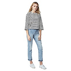 Warehouse - Zip pocket stripe top