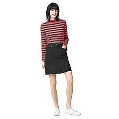 Warehouse - Split front denim skirt