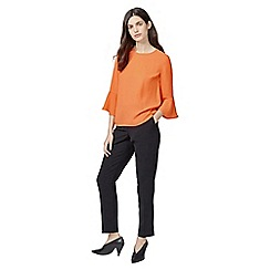 Warehouse - Fluted sleeve top