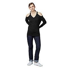 Warehouse - Cold shoulder v neck jumper