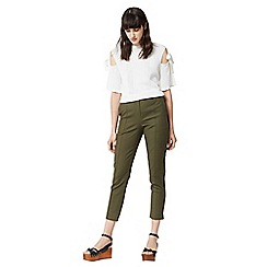Warehouse - Compact cotton trousers