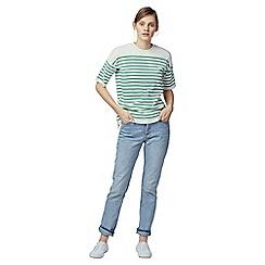 Warehouse - Stripe zip t-shirt