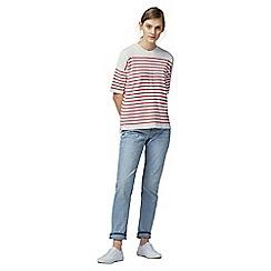 Warehouse - Stripe zip top