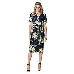 Warehouse - Wisteria floral wrap dress
