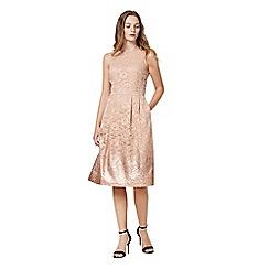 Warehouse - Foil lace dress