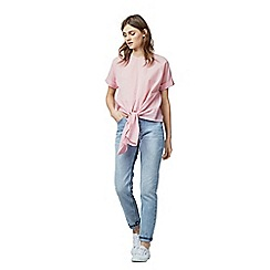 Warehouse - Tie front cotton top