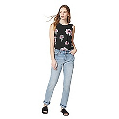 Warehouse - Ocean floral tie back top