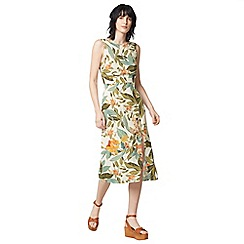 Warehouse - Tropical garden tie back dress