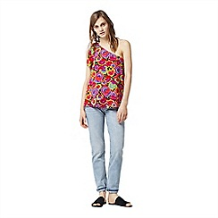 Warehouse - Pansy pop tie one shoulder top