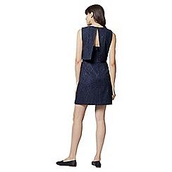 Warehouse - Bonded lace open back dress