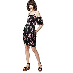 Warehouse - Ocean floral plisse dress