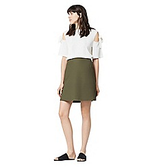 Warehouse - Compact cotton skirt