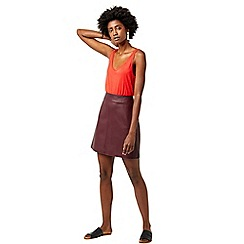 Warehouse - Faux leather a line skirt