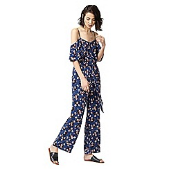 Warehouse - Mae floral frill jumpsuit