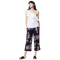 Warehouse - Graphic palm culottes
