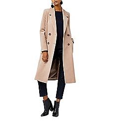 Warehouse - Silk mix long line crombie coat