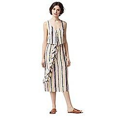 Warehouse - Dash stripe wrap dress