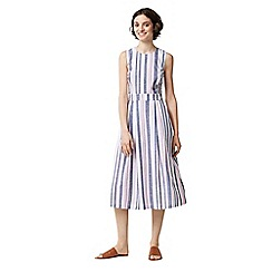 Warehouse - Stripe tie back dress