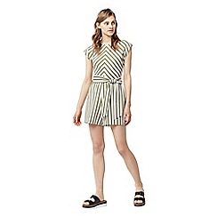 Warehouse - Stripe belted playsuit
