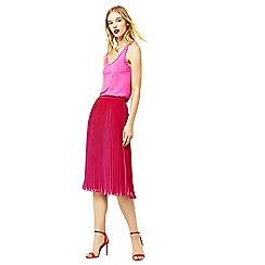 Warehouse - Pleated midi skirt