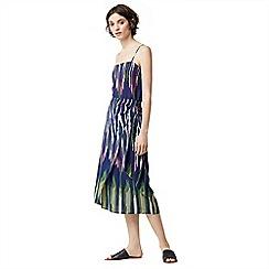 Warehouse - Rainbow ikat tie front skirt