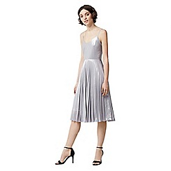 Warehouse - Foil pleated dress