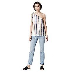 Warehouse - Dash stripe one shoulder top