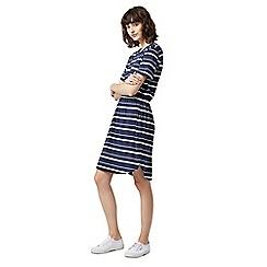 Warehouse - Stripe gathered waist dress