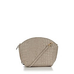 Warehouse - Suede curve top crossbody bag