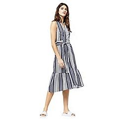 Warehouse - Stripe wrap dress