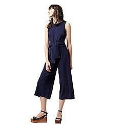 Warehouse - Tie front crepe jumpsuit