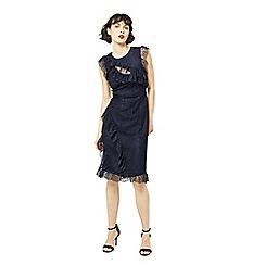 Warehouse - Eyelash frill dress