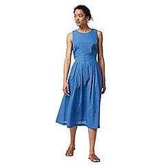 Warehouse - Open back cotton linen dress