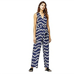 Warehouse - Chain print cotton jumpsuit