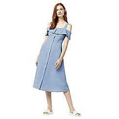 Warehouse - Chambray button through dress