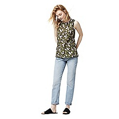Warehouse - Mae floral woven front top