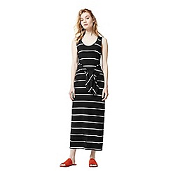 Warehouse - Stripe tie front maxi dress